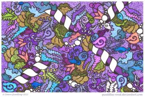 Pulchritudinous Purple Medley by Quaddles-Roost