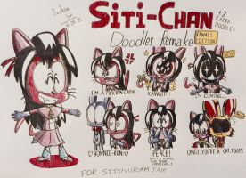 Siti-chan Doodles REMADE (KAWAII EDITION) by Josh-S26
