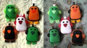 Halloween Penguin Keychain '10 by P-isfor-Plushes