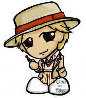 5th Doctor chibi by Kasandra-Callalily