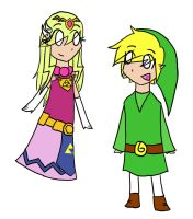 Zelda and Link by Iluvtoonlink