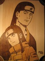 Neji and Father by Obidesuka