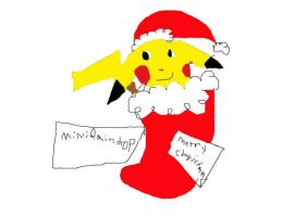 Merry Christmas For: Miniraindrop From: pinkpika89 by pinkpika89