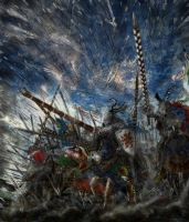 La charge d'Azincourt by AlanusRex