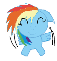 My little dashie by FriendshipisSurprise