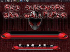 Red Alienware pack! by Mafia-007