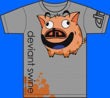 da shirt design- dA swine by babalama