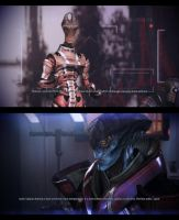 ME3 CDLC - Javik and the 'Salarian Councilor' by chicksaw2002