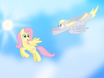(Request) Fluttershy And Derpy by Pasuri98