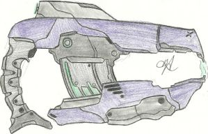 Covenant Plasma Pistol Rifleized by Chigiri16
