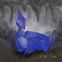 PC: Noctus the Shadow Lugia by KitsuneNight