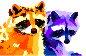 Racoons by elviraNL