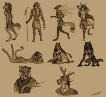 Anthro sketches by Autlaw