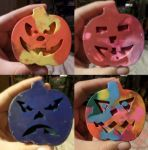 Jack-o-lantern crayons by Cpr-Covet