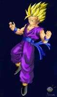Dragon Ball - Gohan 3 by songohanart