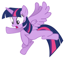 Twilight Sparkle - Flying is hard - Vector by katsaysmeh