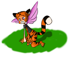 Crazy winged Little Tigress by Inextasie
