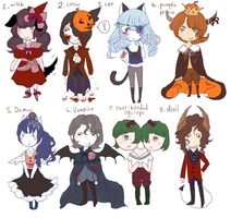 Halloween Adopts -closed- by Mud-Glass