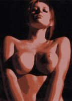 Keeley Hazell nude Paint By Number art Kit by numberedart