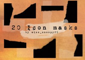 Icon sized masks by misssnoopy25
