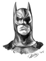 Batman Head by whyaduck