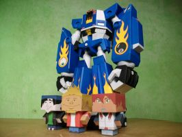 Megas XLR Project:Papercraft M.E.G.A.S. Complete 4 by MarcGo26