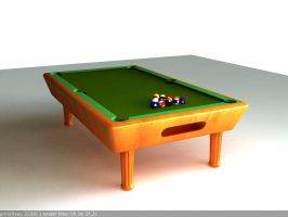 3D Pool Table by DaniNeves