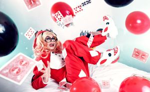 Slumber Party Harley Quinn Cosplay by Reign-Cosplay