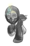 Dishonored Commission Sketch by drawponies