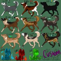 10-20 Point: GSD and HUSKY mutt adopts :D -OPEN- by DawnStygian