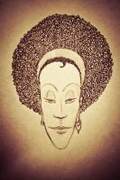 African woman by 4dam