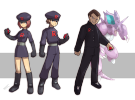 Team Rocket grunt + Giovanni leader by Tomycase
