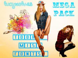 Mega Pack Todas Mis Fonts by LucyWolves