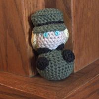 Hand Crocheted Hetalia Chibi - Germany by hookedonchibis