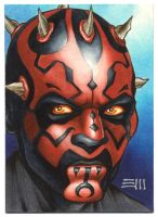 Darth Maul SketchCard Commission by Erik-Maell