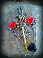 The Gold Trinity Fantasy Key by ArtByStarlaMoore