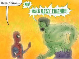 Hulk, Best Friend by tarunbanned
