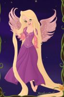 Tink as Rapunzel from Tangled by LadyAquanine73551