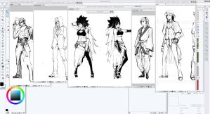 Sheer Will Original Character Sketches by xAKUM3TSUx