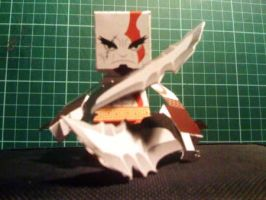 Kratos Paper Toy version 2 by papertoyadventures