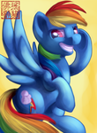 MLP Card - Rainbow Dash by Rattlesire