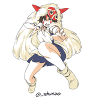 princess mononoke by shunao