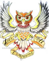 Love Conquers All Owl by BeautyLoveDivine