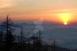 Sunrise Above The CLouds by KKNBC