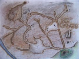 Tha Caves - Hand drawn map contest entry by DePassage