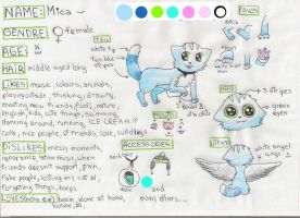 Mica Fursona Reference Sheet by MicaTheKitty