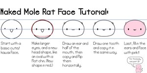 Naked Mole Rat Face Tutorial by Paradasia