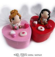 Valentine Cupid Angel Boxes by RedFenyx