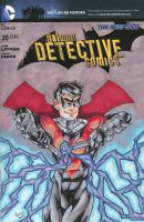Nightwing Detective Comics Sketch Cover by ibroussardart