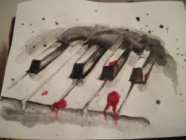 bloody piano by sisila1